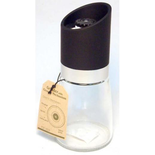 Pepper & salt glass grinder black 160gr
