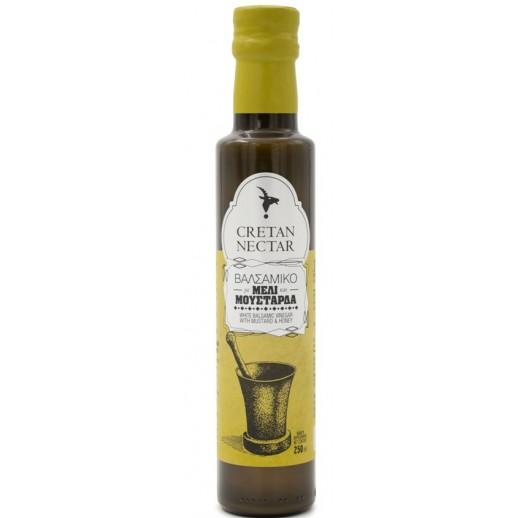 White Balsamic vinegar with mustard & honey Cretan Nectar 250ml